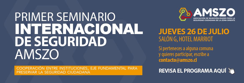 Programa Primer Seminario Internacional De Seguridad AMSZO