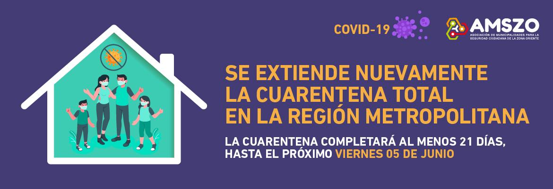 Se Extiende Nuevamente La Cuarentena Total En La Región Metropolitana